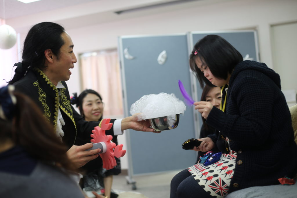 Image from workshop at TYA Inclusive Arts Festival in Japan.