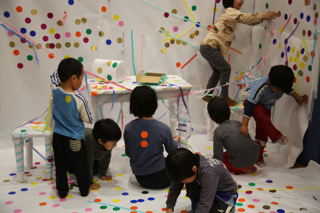 Photo from installation Image from workshop at TYA Inclusive Arts Festival in Japan.